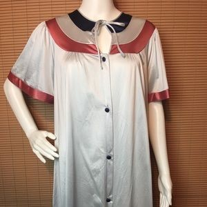 VTG Retro Robe House Coat w Pockets